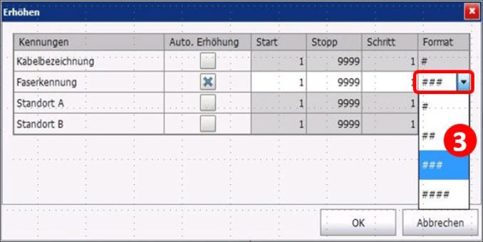 EXFO-Grafik-Software-Hauptmenue